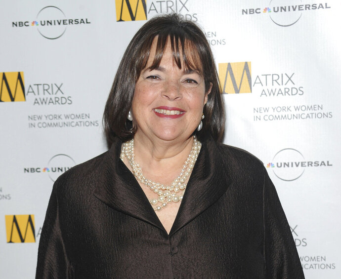 CORRECTS YEAR OF PUBLICATION TO 2023 FROM 2022-FILE - In this April 19, 2010 file photo, author and Food Network host Ina Garten attends the 2010 Matrix Awards presented by the New York Women in Communications at the Waldorf-Astoria Hotel in New York. The next book by million-selling chef Garten will be a little more personal. Celadon Books announced Wednesday, Oct. 2, 2019, that Garten is working on a memoir, currently untitled and tentatively scheduled for 2023. (AP Photo/Evan Agostini, File)