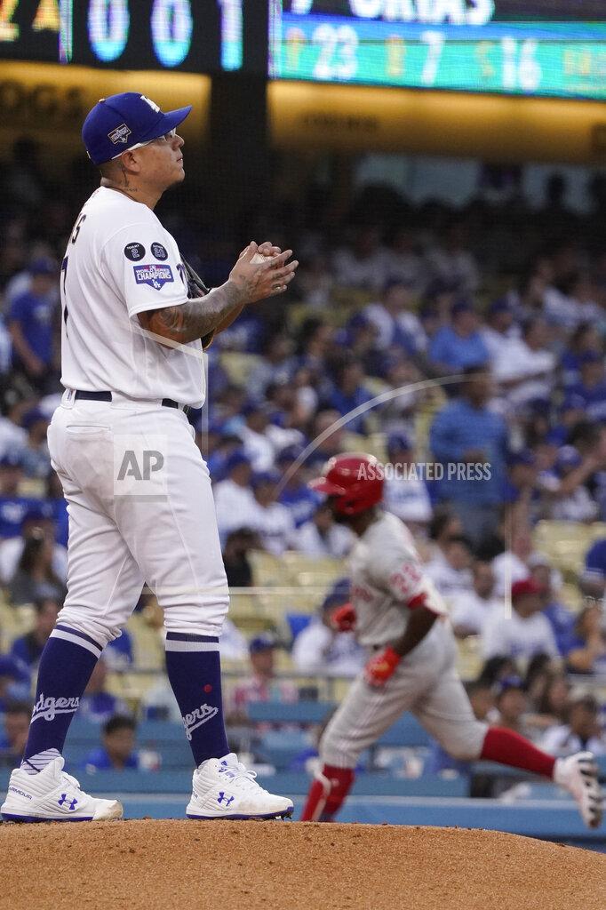 Phillies Dodgers Baseball