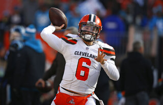 Browns Baker Big Arm Football