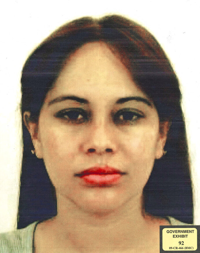 This undated photo provided by the United States Attorney for the Eastern District of New York shows Lucero Guadalupe Sanchez Lopez. Sanchez, who says she had an affair with the notorious Mexican drug kingpin Joaquin