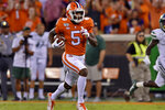 Clemson's Tee Higgins runs to the end zone for a touchdown during the first half of the team's NCAA college football game against Charlotte on Saturday, Sept. 21, 2019, in Clemson, S.C. (AP Photo/Richard Shiro)