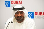 Sheikh Ahmed bin Saeed Al Maktoum, the chairman and CEO of the Dubai-based long-haul carrier Emirates, speaks at a news conference at the Dubai Airshow in Dubai, United Arab Emirates, Monday, Nov. 18, 2019. Emirates announced Monday a new order for 20 additional wide-body Airbus A350-900 planes in a deal worth $6.4 billion. This brings the airline's total order for the aircraft to 50 Airbus A350s costing $16 billion at list price. (AP Photo/Jon Gambrell)