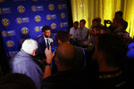 Missouri quarterback Kelly Bryant speaks during the NCAA college football Southeastern Conference Media Days, Monday, July 15, 2019, in Hoover, Ala. (AP Photo/Butch Dill)
