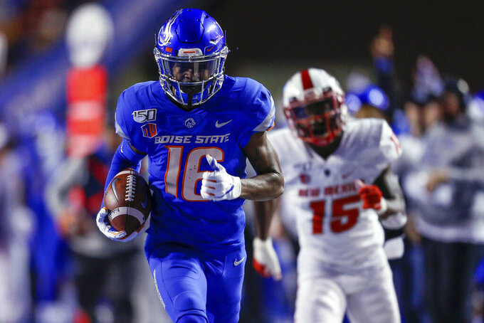 Henderson throws 3 TD passes, No. 21 Broncos beat New Mexico