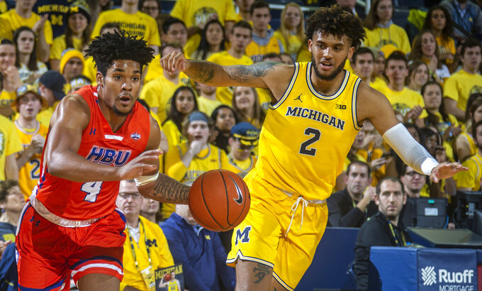Houston Baptist Huskies at Michigan Wolverines 11/22/2019