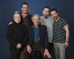 This Dec. 5, 2019 photo shows director Clint Eastwood, center, posing with cast members, from left, Kathy Bates, Jon Hamm, Paul Walter Hauser and Sam Rockwell during a portrait session to promote their film