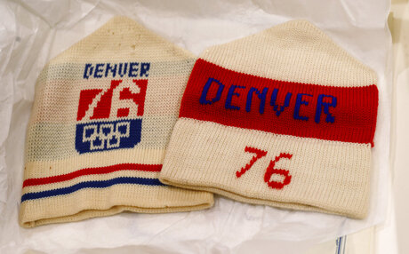 Stocking hats from Denver's 1976 Winter Olympics bid