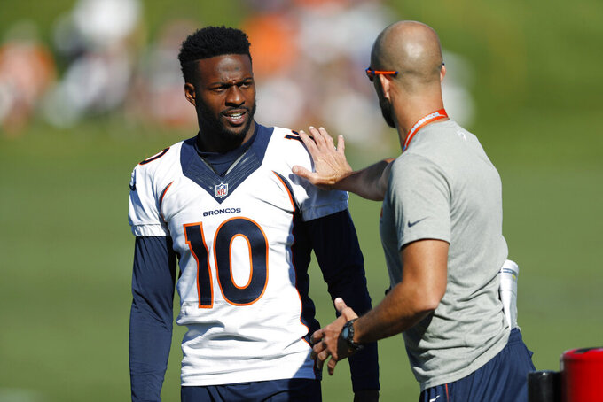 Broncos' Emmanuel Sanders had surgery on both ankles