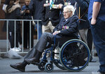 A veteran prepares to join the Anzac Day parade in Sydney, Australia, Sunday, April 25, 2021. Australians and New Zealanders paid tribute to their war dead Sunday as both nations prepared to withdraw from their longest war in Afghanistan. (AP Photo/Mark Baker)