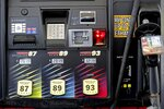 FILE- In this June 14, 2018, file photo gasoline prices are displayed on a pump at Sheetz along the Interstate 85 and 40 corridor near Burlington, N.C. On Thursday, July 12, the Labor Department reports on U.S. consumer prices for June. (AP Photo/Gerry Broome, File)