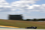 Mercedes driver Valtteri Bottas of Finland steers his car during the first free practice session ahead of the Portugal Formula One Grand Prix at the Algarve International Circuit near Portimao, Portugal, Friday, April 30, 2021. The Portugal Grand Prix will be held on Sunday. (AP Photo/Manu Fernandez)