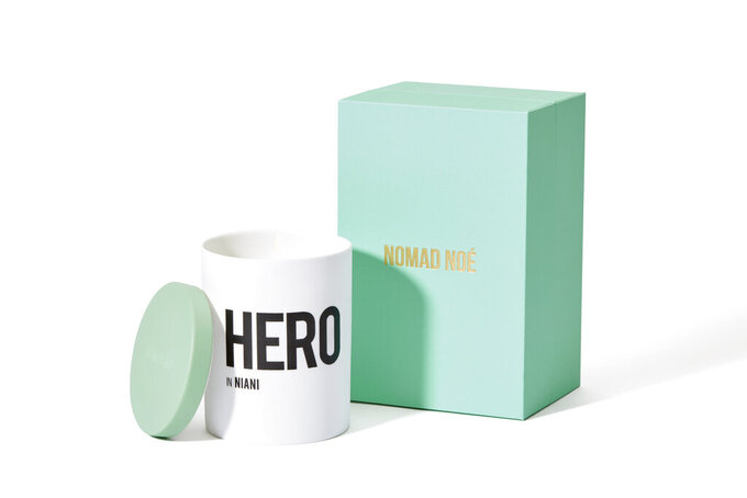 This photo shows the Hero in Niani candle from Nomad Noe. Keep the handmade cards, bouquets or breakfasts in bed coming this Mother's Day, but up your game in celebration of brighter days ahead with a store-bought gift. (Nomad Noe via AP)