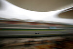 Mercedes driver Lewis Hamilton of Britain steers his car during the second practice session for the Chinese Formula One Grand Prix at the Shanghai International Circuit in Shanghai, Friday, April 13, 2018. (AP Photo/Andy Wong)