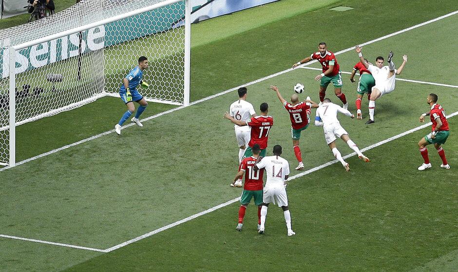 Russia Soccer WCup Portugal Morocco