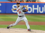 Washington Nationals starting pitcher Max Scherzer delivers against the New York Mets during the first inning of a baseball game Thursday, July 12, 2018, in New York. (AP Photo/Julie Jacobson)