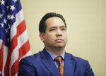 FILE - In this Feb. 23, 2017, file photo, Utah Attorney General Sean Reyes looks on during a news conference at the Utah State Capitol in Salt Lake City. In a Wednesday, Oct. 9, 2019 statement, Reyes said Maricopa County, Ariz., Assessor Paul Petersen