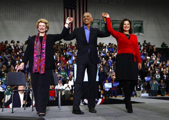 Barack Obama, Gretchen Whitmer, Debbie Stabenow