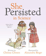 """This cover image provided by Penguin Young Readers shows """"She Persisted in Science: Brilliant Women Who Made a Difference"""" by Chelsea Clinton. (Penguin Young Readers via AP)"""