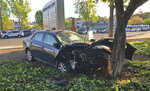 This photo taken Tuesday, April 23, 2019, provided by Don Draper, shows the scene of a car crash where several pedestrians were struck in Sunnyvale, Calif. Draper, a witness to the crash said he was waiting for the light to turn green when a vehicle plowed through the intersection at high speed. (Don Draper via AP)