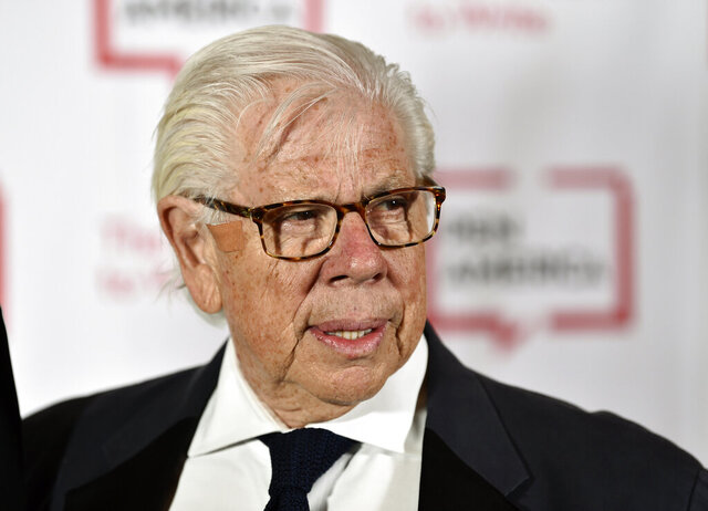FILE - Journalist Carl Bernstein attends the 2018 PEN Literary Gala in New York on May 22, 2018. Bernstein took to Twitter to specifically 'out' 21 Republican senators that he says have privately expressed contempt for President Donald Trump. It was an unusual form of reporting for Bernstein, who with former partner Bob Woodward broke stories that led to the resignation of former President Richard Nixon. (Photo by Evan Agostini/Invision/AP, File)