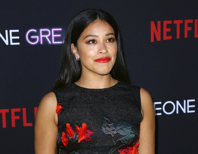 FILE - This April 17, 2019 file photo shows Gina Rodriguez at a special screening of