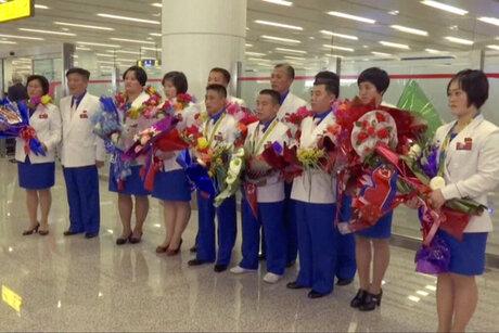 North Korea Olympians Return