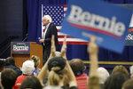 Democratic presidential candidate Sen. Bernie Sanders, D-Vt., speaks at a campaign event, Friday, Dec. 13, 2019, in Manchester, N.H. (AP Photo/Elise Amendola)