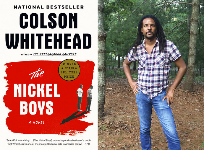 This combination photo shows the cover of the Pulitzer Prize winning novel