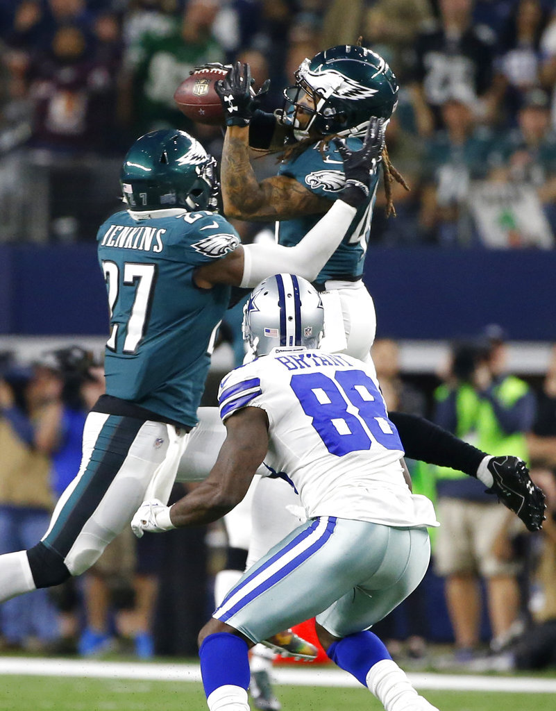 Malcolm Jenkins, Ronald Darby, Dez Bryant