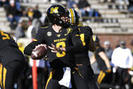 Missouri quarterback Connor Bazelak throws during the first half of an NCAA college football game against Vanderbilt Saturday, Nov. 28, 2020, in Columbia, Mo. (AP Photo/L.G. Patterson)