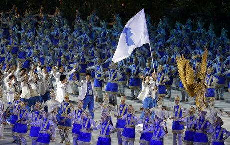 APTOPIX Indonesia Asian Games Opening Ceremony