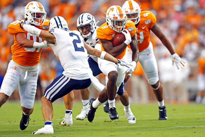 BYU rallies to beat Tennessee 29-26 in OT