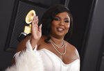 Lizzo arrives at the 62nd annual Grammy Awards at the Staples Center on Sunday, Jan. 26, 2020, in Los Angeles. (Photo by Jordan Strauss/Invision/AP)