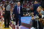 Wisconsin head coach Greg Gard reacts to a call during the second half of an NCAA college basketball game against Nebraska Tuesday, Jan. 21, 2020, in Madison, Wis. Wisconsin won 82-68. (AP Photo/Andy Manis)