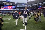 New England Patriots quarterback Tom Brady leaves the field after being defeated by the Miami Dolphins in an NFL football game, Sunday, Dec. 29, 2019, in Foxborough, Mass. (AP Photo/Elise Amendola)