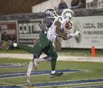 Colorado State wide receiver Preston Williams (11) make the catch for a touchdown against Nevada in the second half of an NCAA college football game in Reno, Nev., Saturday, Nov. 10, 2018. (AP Photo/Tom R. Smedes)