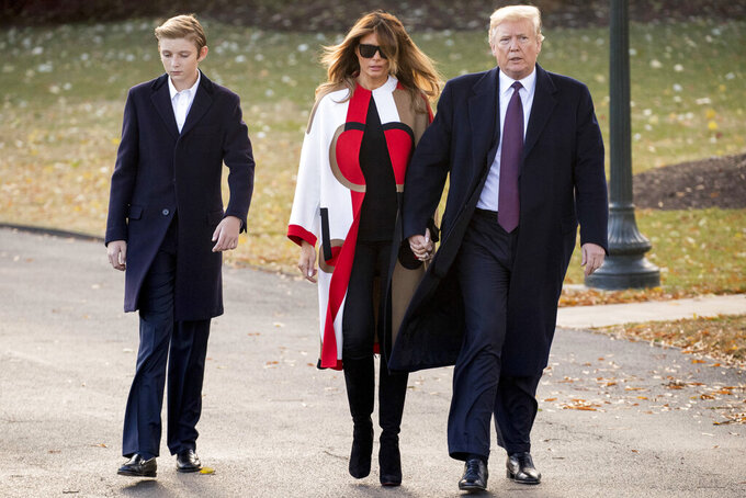 Trump says he wouldn't steer son Barron toward football