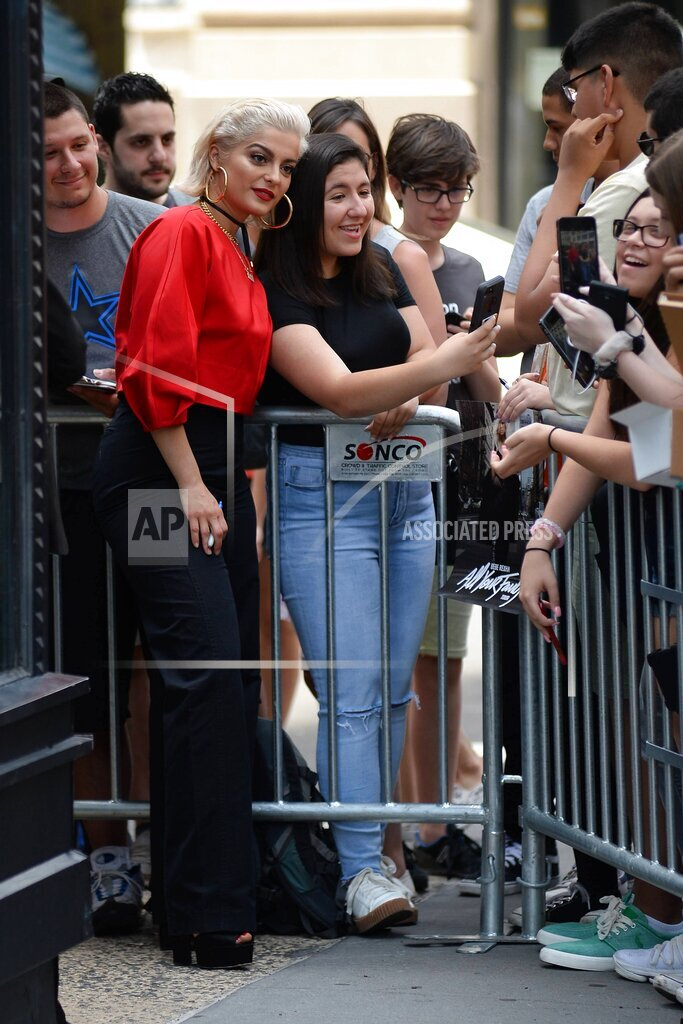 EXPNews AP I ENT New York United States Of America EXPRE Bebe Rexha