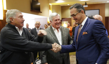 Chris Del Conte, DeLoss Dodds, Mack Brown