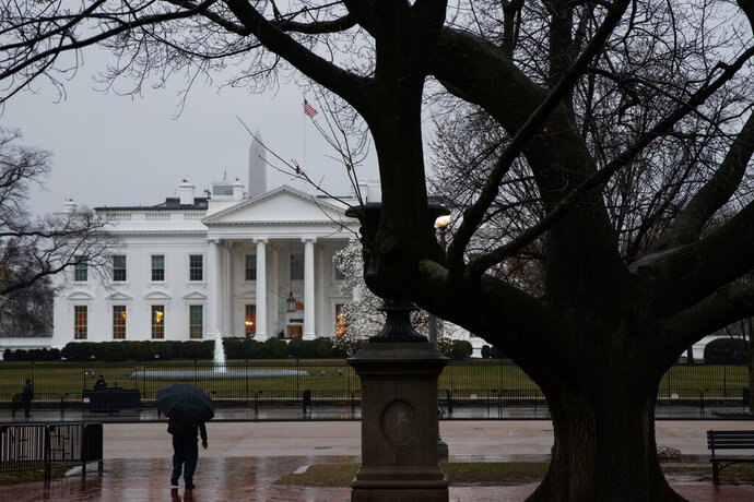 A view of the White House, Thursday, March 21, 2019, in Washington. (AP Photo/Evan Vucci)