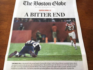 Super Bowl Wrong Front Page
