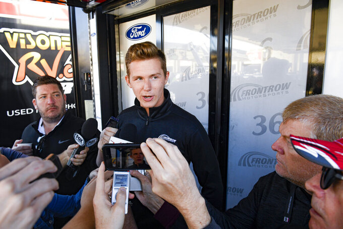 Rookie NASCAR Cup driver Matt Tifft says he is focused on trying to determine what caused a seizure at Martinsville Speedway last week before a NASCAR auto race at Texas Motor Speedway, Sunday, Nov. 3, 2019, in Fort Worth, Texas. (AP Photo/Larry Papke)