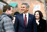 This March 31, 2011, photo shows actor George Clooney in Oxford, Ohio, where he filmed scenes for