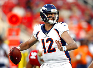 Broncos Lynch ThrowsFootball