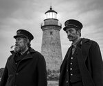 This image released by A24 Films shows Willem Dafoe, left, and Robert Pattinson in a scene from