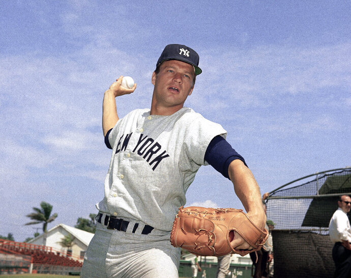 FILE - This 1967 file photo shows New York Yankees pitcher Jim Bouton. Jim Bouton, the New York Yankees pitcher who shocked the conservative baseball world with the tell-all book