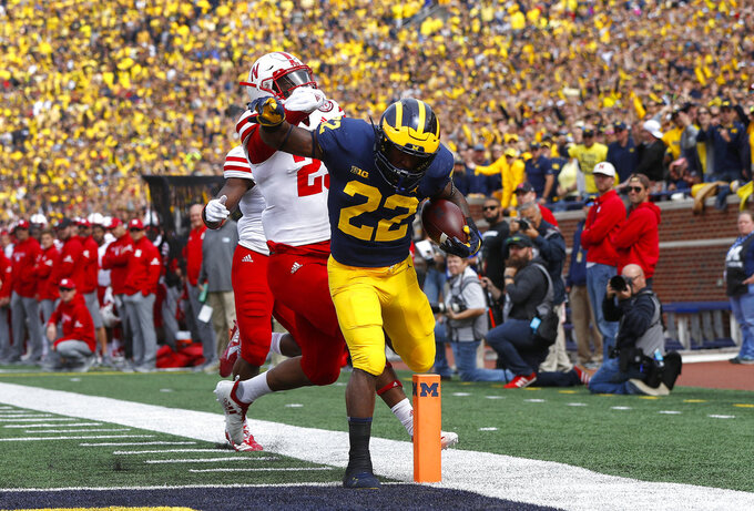 No. 19 Michigan tops Nebraska 56-10, led 39-0 at halftime