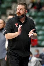 Texas Tech head coach Chris Beard watches play in the second half during a NCAA mens college basketball game in Frisco, Texas, Saturday, Dec. 12, 2020. (AP Photo/Matt Strasen)