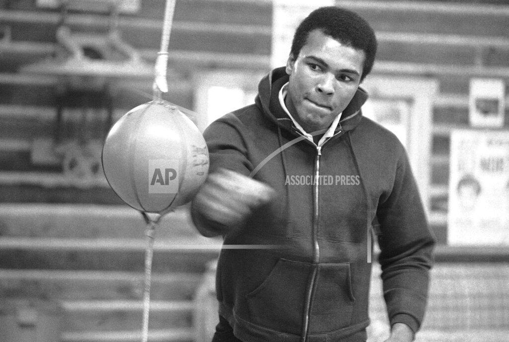 Watchf AP A BOX PA USA APHS284337 Muhammad Ali        training