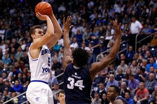 BYU Cougars take on Utah State Aggies in NCAA men's basketball 01